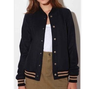 Urban outfitters varsity jacket blue S